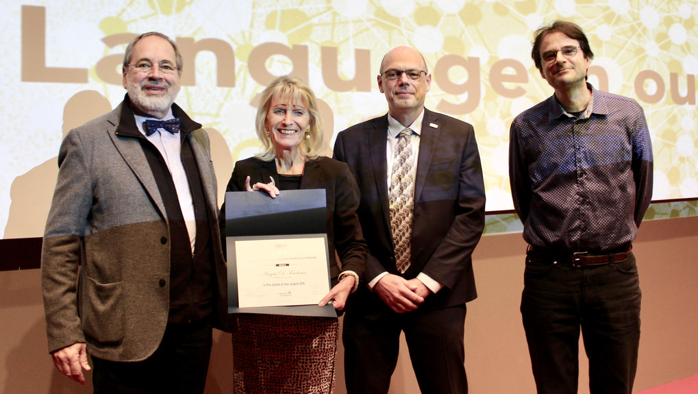 Angela Friederici honoured with Justine and Yves Sergent Award