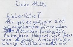 Brief eines betroffenen Kindes. © MPI CBS