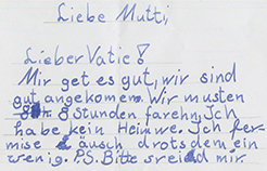 Letter of an affected child. © MPI CBS